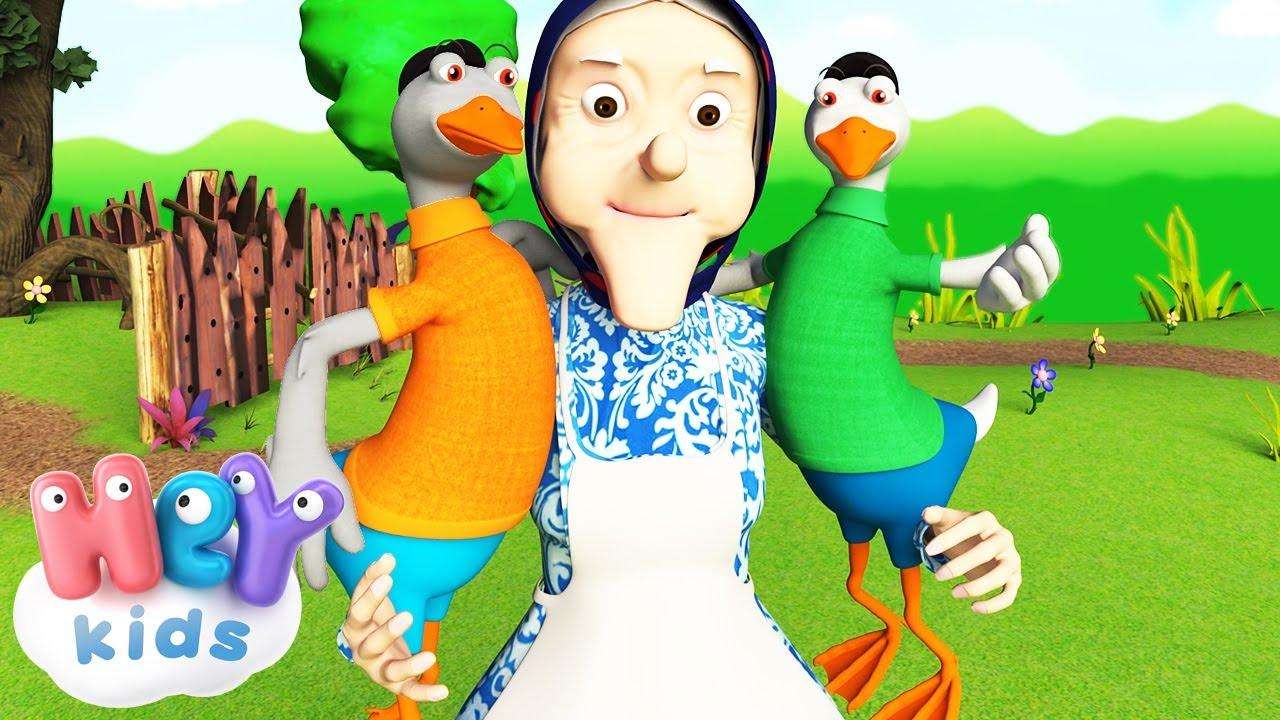 Два Весели Гъсока - Детски песнички с текст   HeyKids