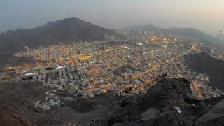 Mount Hira - a View of Makkah at Maghrib