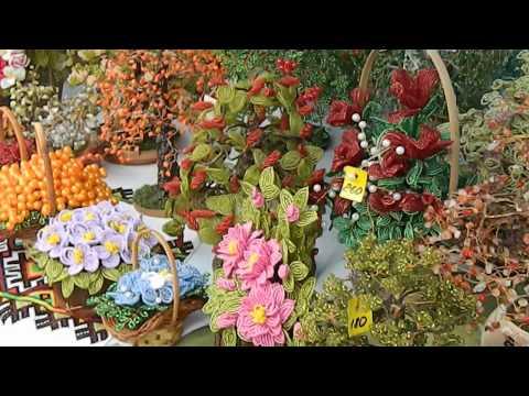 Бисероплетение. Цветы и деревья из бисера