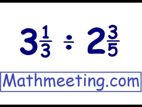 Dividing mixed numbers - YouTube