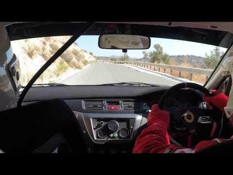 G.Christofi-A.Chrysostomou @ Kourris Dam-Lofou ''Limassol Mini Rally 2015'' Mitsubishi Lancer Evo 9