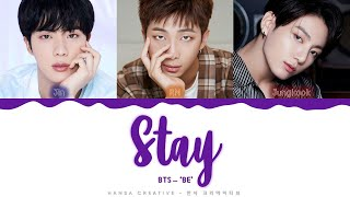 Gambar cover BTS - 'Stay' Lyrics Color Coded (Han/Rom/Eng)