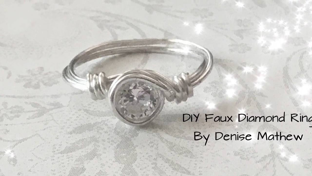 How To Make A Diy Faux Diamond Ring By Denise Mathew