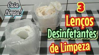 DEIXE SUA CASA LIMPA COM SUPER LENÇOS CASEIROS