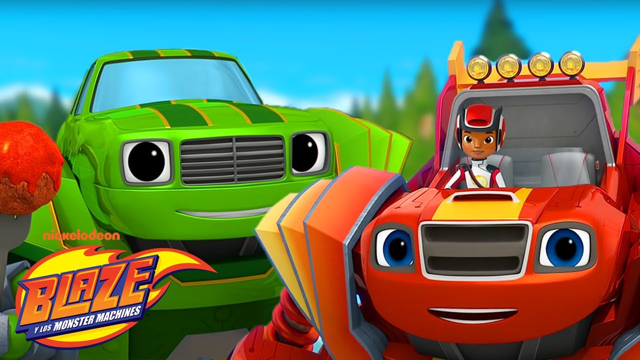 Robot Blaze Stops A GIANT Meatball! | Blaze and the Monster Machines