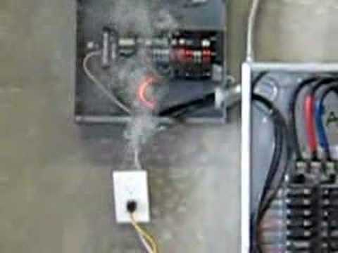 hqdefault zinsco breaker test (fire) youtube fuse box fire causes at gsmx.co