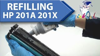 How to Refill HP 201A, 201X Cartridges for M252, M252dw, M277, M277dw Printers