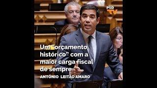 António Leitão Amaro: Orçamento do Estado para 2019 é eleitoralista