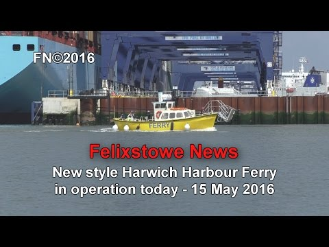 New Harwich Harbour Ferry in operation, 15 May 2016