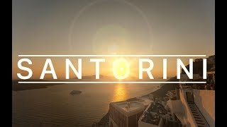 Santorini in 4K  l  Most Beautiful Sunsets