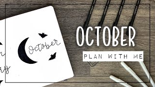 PLAN WITH ME || October 2020 Bullet Journal Setup - My First Voiceover!