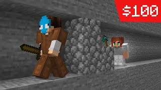 i paid a gİrl to chase me in minecraft...