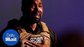 Tears and confusion as Kanye West holds rambling campaign event