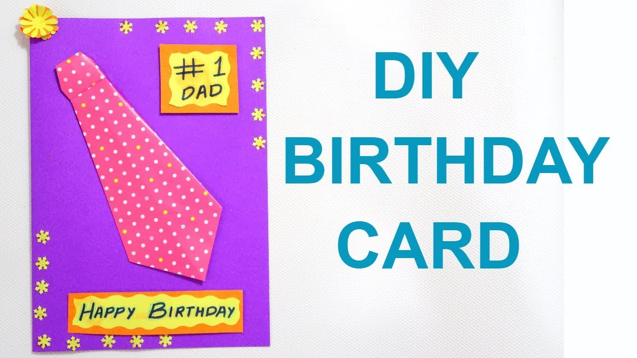 BIRTHDAY CARD FOR FATHER DIY BIRTHDAY CARD FATHERS DAY CARD