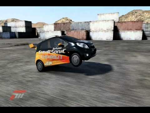 forza 4 rob dyrdek kickflip car chevy spark youtube. Black Bedroom Furniture Sets. Home Design Ideas