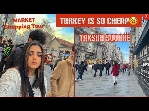 Shopping in Istanbul turkey 🇹🇷 *CHEAP* Tourist after lockdown in Turkey Istanbul Taksim square