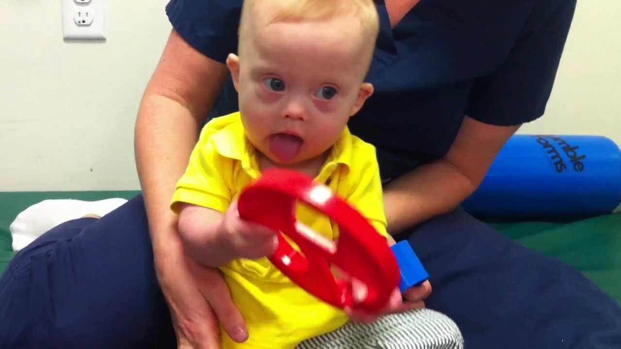 Down syndrome and physical therapy - 9 Month Old Baby With Down Syndrome Exercising At Occupational Therapy Youtube