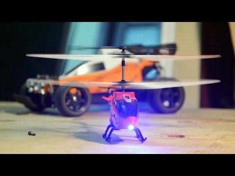 Máy bay trực thăng điều khiển từ xa mini - Bay cực đầm + bao đập