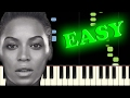 BEYONCE - SINGLE LADIES (PUT A RING ON IT) - Easy Piano Tutorial