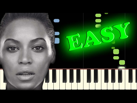 BEYONCE  SINGLE LADIES PUT A RING ON IT  Easy Piano Tutorial