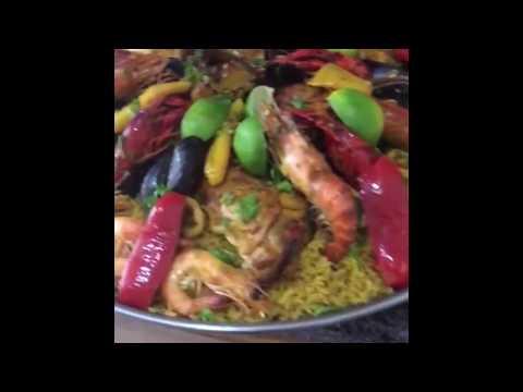 Paêlla de poulet et fruits de mer