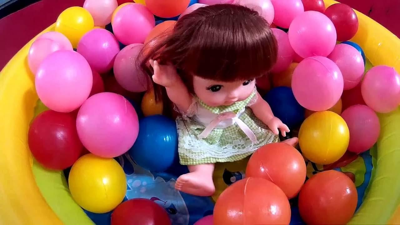 Mainan Anak Boneka Bayi Lucu Bermain Mandi Bola Kids Toys YouTube