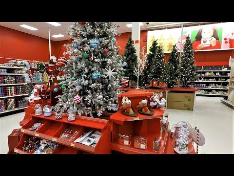 4K CHRISTMAS SECTION AT TARGET - Christmas Shopping Christmas Trees Decorations Ornaments