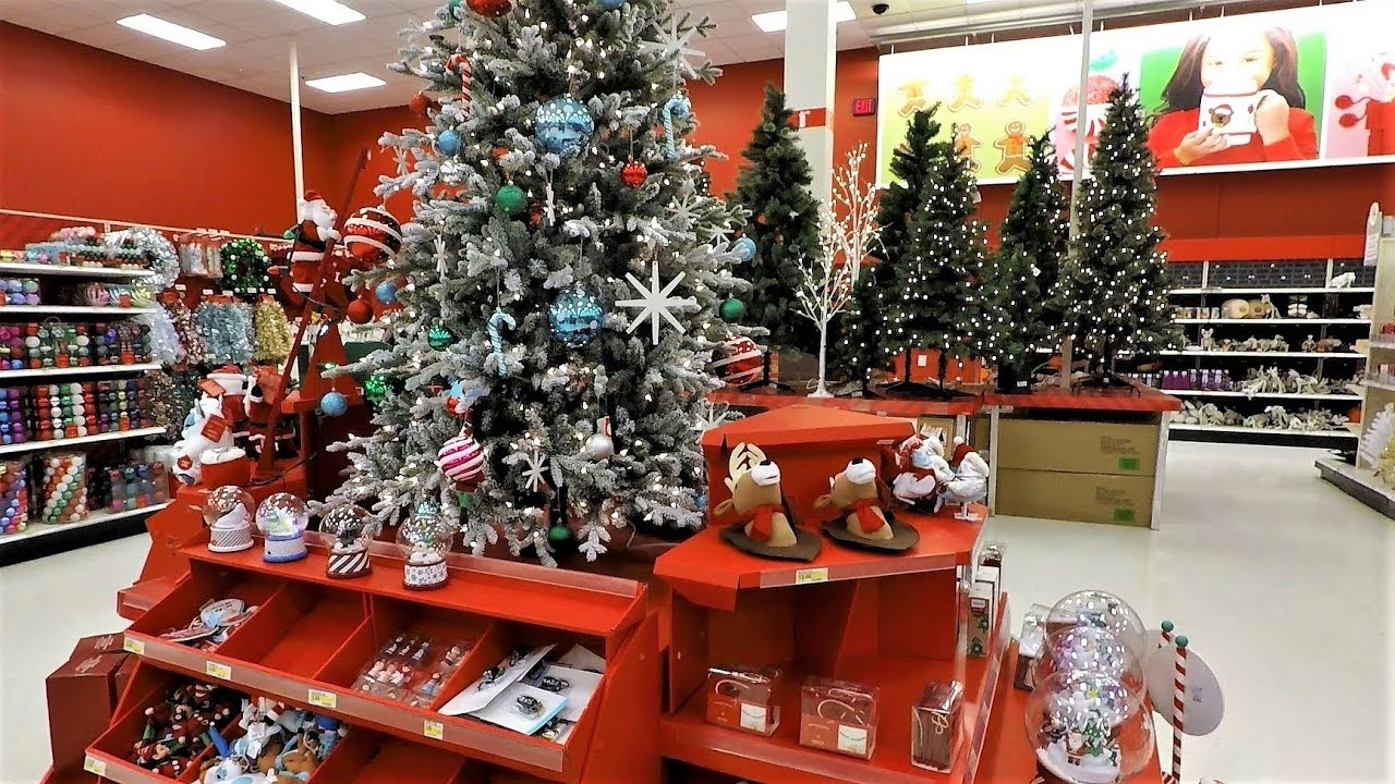 K christmas section at target shopping