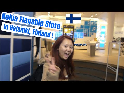 Buying a new phone at the NOKIA flagship store in HELSINKI,