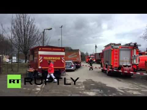 Germany: Firefighters respond after smoke billows from Hamburg chemical warehouse
