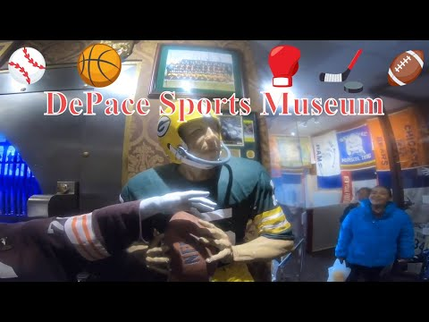 MJ visits DePace Sports Museum