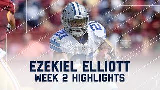 Every Ezekiel Elliott Run | Cowboys vs. Redskins | NFL Week 2 Player Highlights