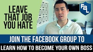 Join The Facebook Group To Learn How To Become Your Own Boss