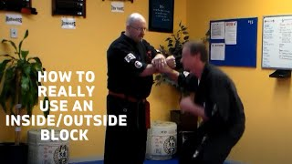 """Application using an """"Outside to Inside Block/Penacook School Martial Arts"""