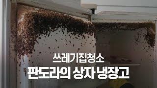 [쓰레기집청소] 주방악취의 원인 냉장고청소!