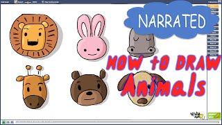 How to Draw Animals for Kids (NARRATED)