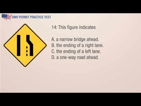 Maryland MVA Road Signs Permit Practice Test