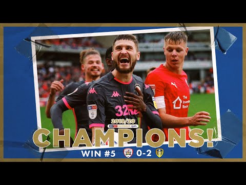Champions! | Extended highlights | Win #5 Barnsley 0-2 Leeds United