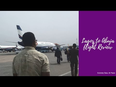 Review of Air Peace flight from Lagos to Abuja, economy class.