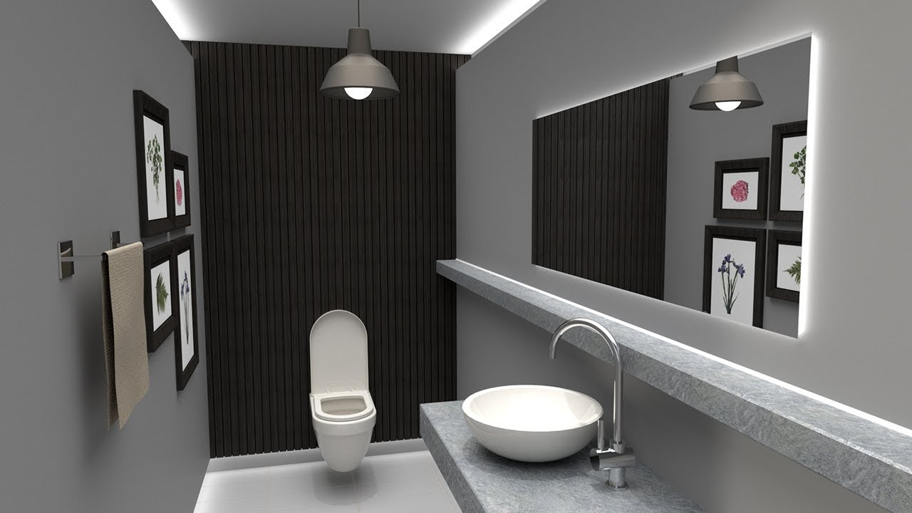 [SketchUp] Simple Bathroom Vray 3.4 Rendering Tutorial