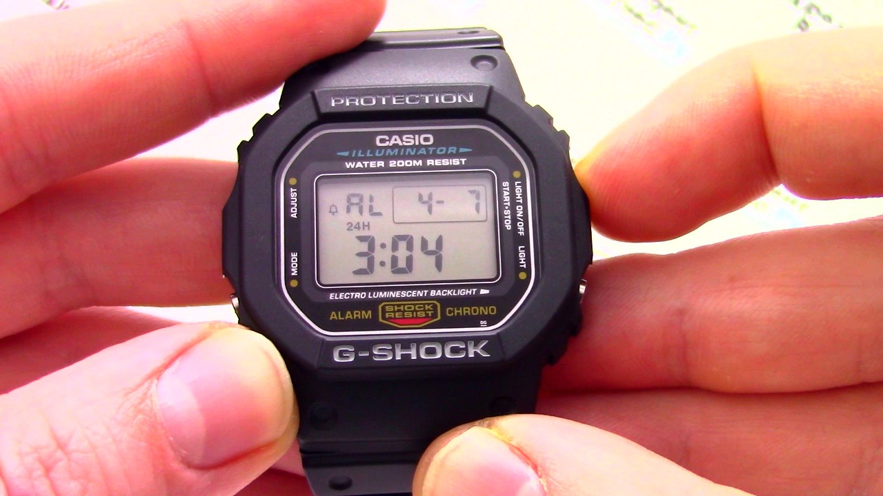 casio g-shock инструкция на русском видео