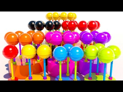 Thumbnail: Learning Numbers with 3D Lollipops for Kids and Children