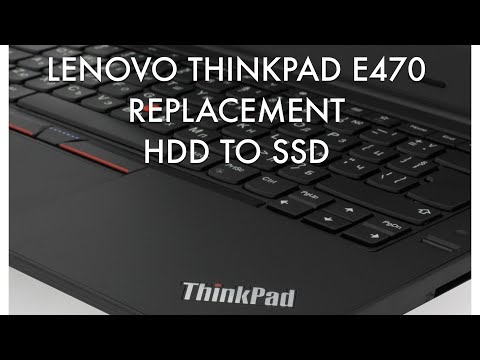 Lenovo Thinkpad E470 replacement HDD to SSD