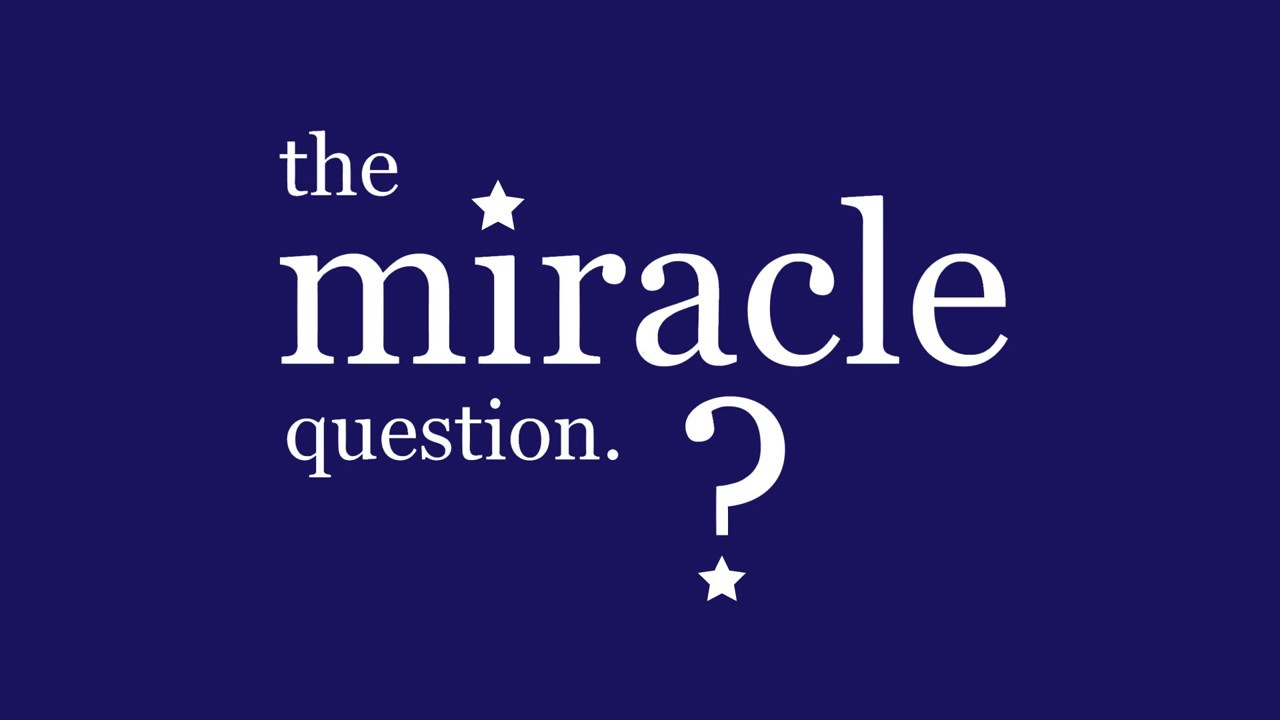 the miracle question The miracle question is a simple guide to help you begin a conversation with either a friend or complete stranger if used correctly it can help open up possibilities to pray for someone.