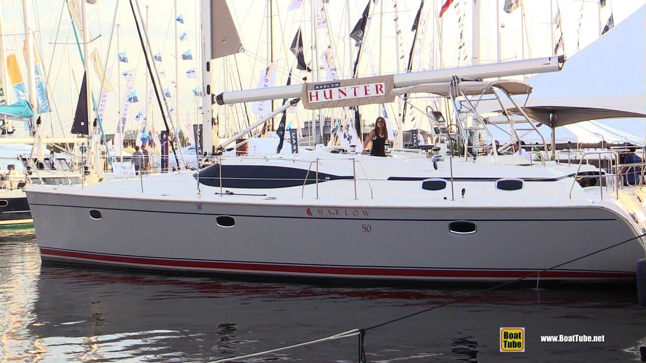 2016 Hunter 50 Sailing Yacht - Deck and interior Walkaround - 2015  Annapolis Sail Boat Show