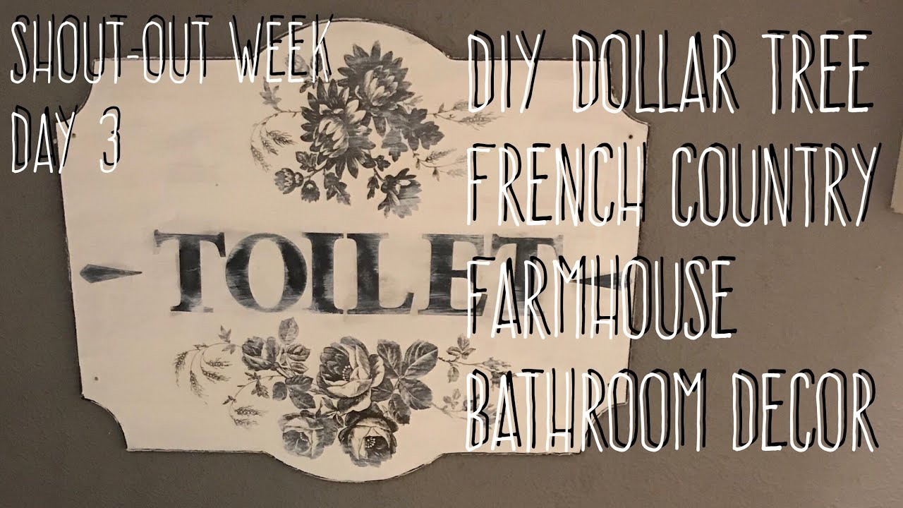 Shout Out Week Day 3 Diy Dollar Tree French Country Farmhouse Bathroom Decor Youtube,Small Backyard Landscaping Ideas No Grass
