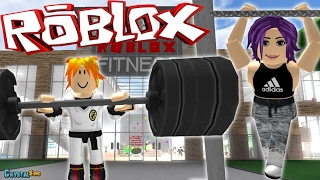 WE GET STRONG IN THE GYM FITNESS ROBLOX CRYSTALSIMS