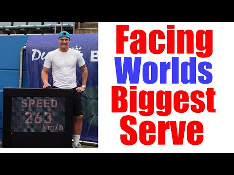Tennis Serve - Facing The World's Fastest Tennis Serve (160 MPH)