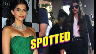 Sonam Kapoor Spotted At Airport   Bollywood Paparazzi   Chillx Bollywood