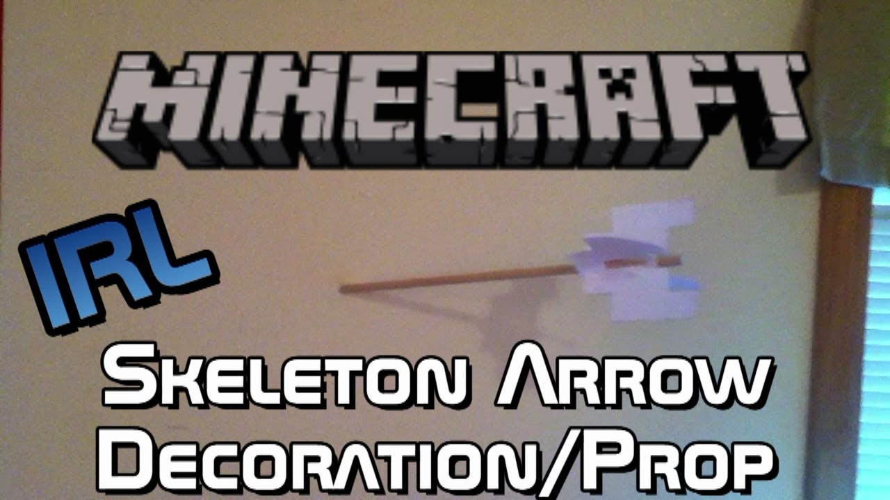 Real Life Minecraft Arrows Decoration Prop Tutorial Diy Youtube